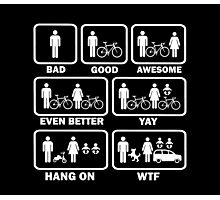 Funny Cycling T Shirt Photographic Print