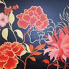 Wallpaper flowers in red by Jeni Maxwell