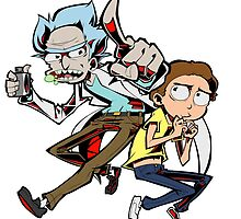 Rick and Morty by Beck Sandoval