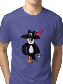 Pirate Penguin  Tri-blend T-Shirt