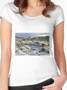Snow at Mt Field Women's Fitted Scoop T-Shirt