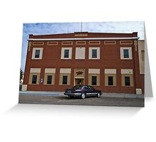 Liberty County Montana Court House Greeting Card