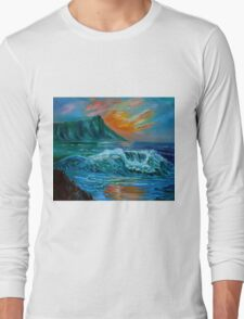 Diamond Head Seascape Long Sleeve T-Shirt