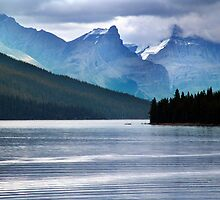 Lake Maligne-Canoes by Jann Ashworth