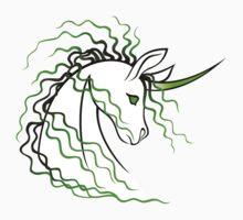Ki-Rin (Japanese Unicorn) - Green One Piece - Long Sleeve