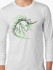 Ki-Rin (Japanese Unicorn) - Green Long Sleeve T-Shirt