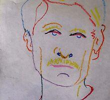 Portrait In Oil Pastels. by Richard  Tuvey