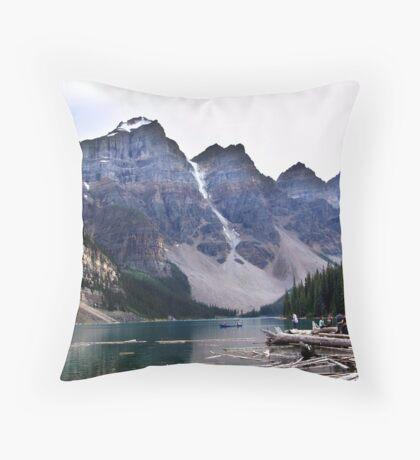 Evening at Moraine Lake Throw Pillow
