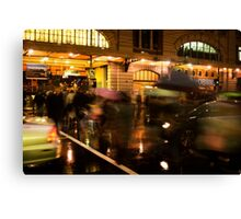 Flinders Street Rush Canvas Print