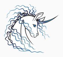 Ki-Rin (Japanese Unicorn) - Blue by Jennifer Doneske