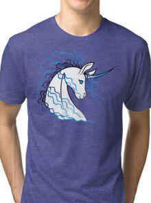 Ki-Rin (Japanese Unicorn) - Blue Tri-blend T-Shirt