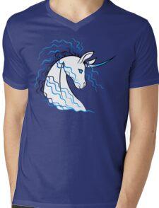 Ki-Rin (Japanese Unicorn) - Blue Mens V-Neck T-Shirt