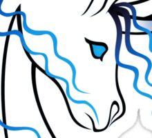 Ki-Rin (Japanese Unicorn) - Blue Sticker
