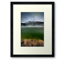 Rainbow Mountain, Crater Lake Framed Print