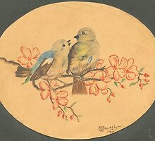 Love Birds - 1945... by Larry Llewellyn