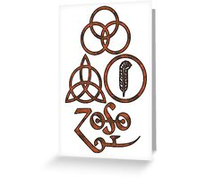 TRIQUETRA - the soil L Greeting Card