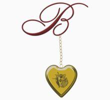 B Golden Heart Locket Kids Clothes