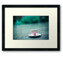 raining on her teacup Framed Print