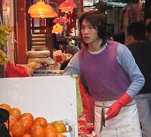 Dedicated fruit seller by mklau