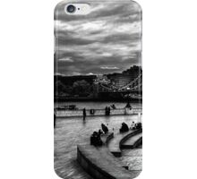 View of Tower Bridge and Tower Hill in monochrome, London iPhone Case/Skin