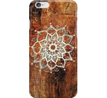 Mandala - One - Wood Texture  iPhone Case/Skin