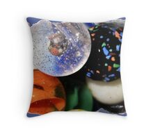 A Collection of Marbles Throw Pillow