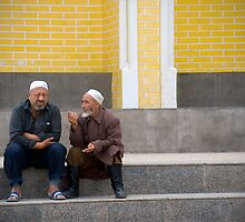 Two muslim men in Kashgar by Speedy