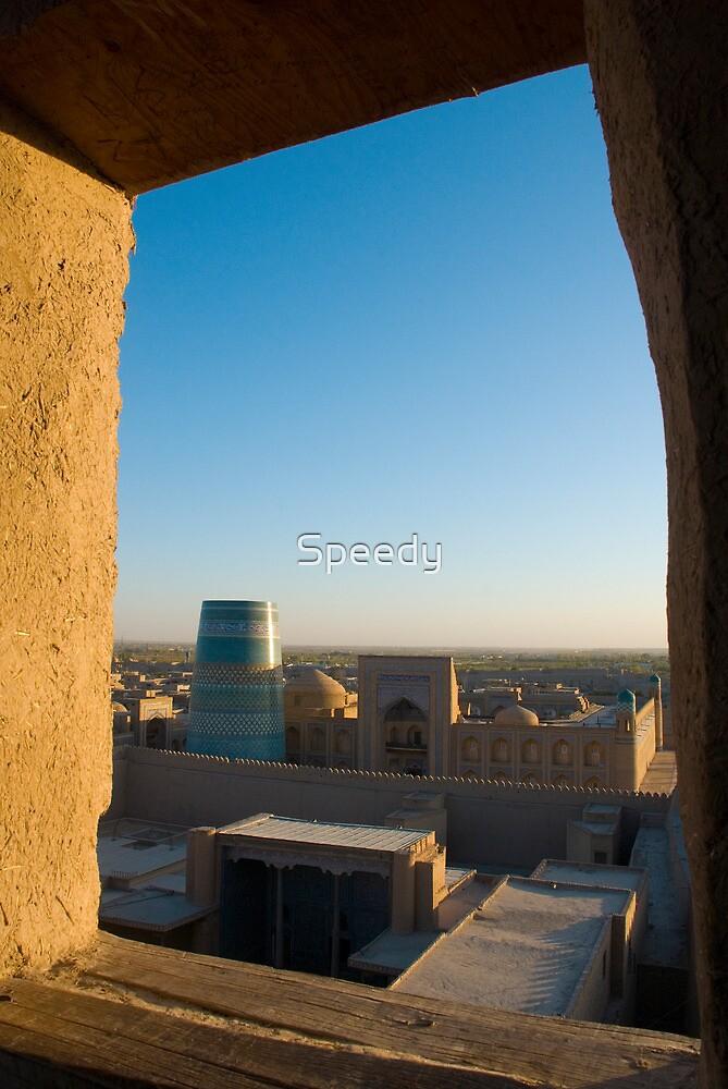 Khiva old city from tower - Uzbekistan by Speedy