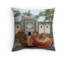 Abakh Hoja Tomb and camel - Kashgar Throw Pillow