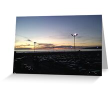 Santa Monica Skies Greeting Card