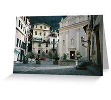 Airole, Ligura, Italy, the piazza Greeting Card
