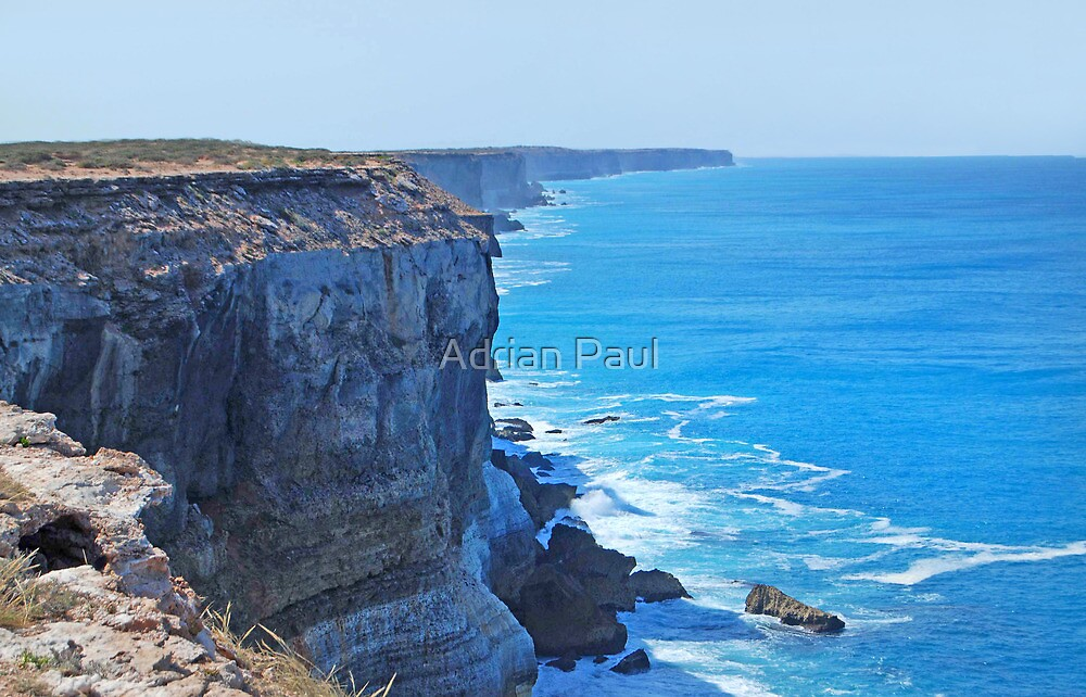 Bunda Cliffs, The Great Australian Bight, South Australia by Adrian Paul