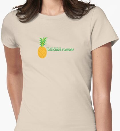 Delicious Flavor Womens Fitted T-Shirt