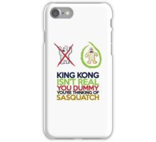 King Kong vs Sasquatch iPhone Case/Skin
