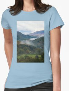 Towards Snowdonia, Wales Womens Fitted T-Shirt