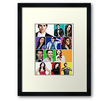 Teen Wolf Cast Boxes Framed Print