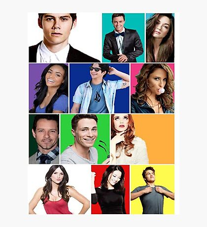 Teen Wolf Cast Boxes Photographic Print