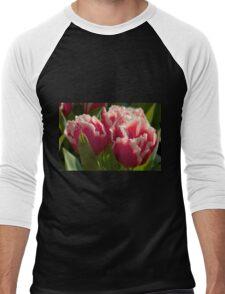 Fringed tulips Men's Baseball ¾ T-Shirt