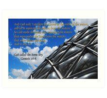 God called the dome sky Art Print
