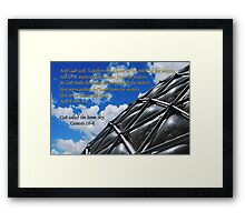 God called the dome sky Framed Print