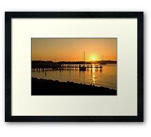Raymond Island sunset Framed Print