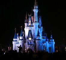 Cinderella Castle and Walt by morganlianne