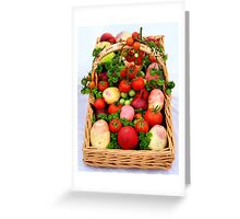 Basket of Vegetables Greeting Card