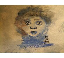 Childs Face Photographic Print