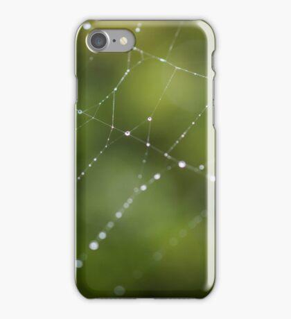 Spider Web in Green  iPhone Case/Skin