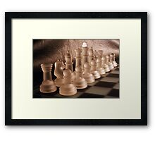 Chess with Temperature Contrast Framed Print