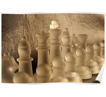 Chess Close up Poster