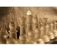 Chess Close up Photographic Print