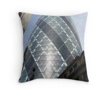 The Gherkin Building London EC3A Throw Pillow