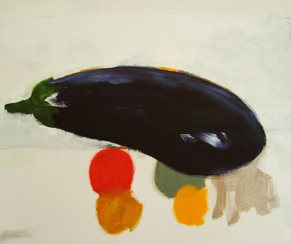 eggplant , lemon and tomato 2 - study by frederic levy-hadida
